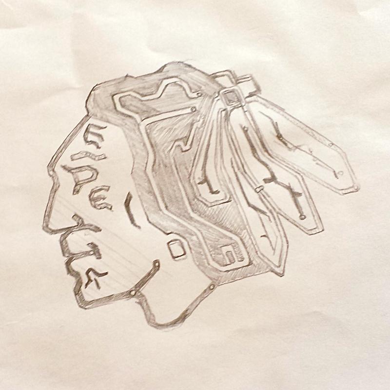 Transit Hawks pencil sketches